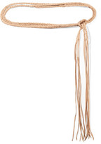 Caravana - Chuuy Braided Leather Belt - Beige