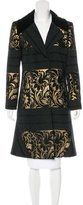Just Cavalli Brocade Knee-Length Coat