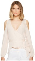 Nicole Miller Coco Silk Wrap Blouse Women's Blouse
