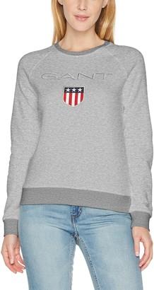 Gant Women's Crew Neck Shield Sweatshirt