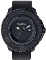 Tendence G-52 Unisex Quartz Watch with Black Dial Analogue Display and Black Plastic or PU Strap T0030003