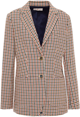 Tory Burch Checked Woven Blazer