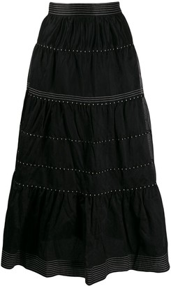 Ulla Johnson Embroidered Skirt