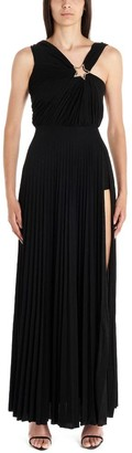 Elisabetta Franchi Asymmetric Draped Maxi Dress