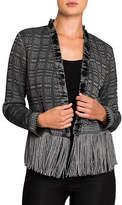 Nic+Zoe PETITE Steel Fringe Sweater Jacket