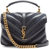 Saint Laurent Collège medium quilted-leather shoulder bag