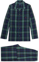 Polo Ralph Lauren Checked Cotton Pyjama Set - Navy