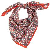 Tory Burch Women's Carnation Silk Square Scarf