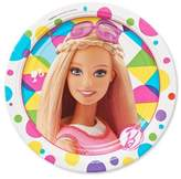 Disney Barbie Round Disposable Plates - 8ct