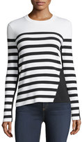 Rag & Bone Striped Crewneck Pullover Top