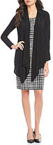 Jones New York Knit Jersey Twofer Cardigan With Check Plaid Sheath Dress