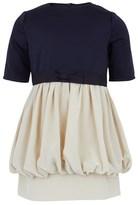 Stella McCartney Navy Dress with Beige Silk Skirt