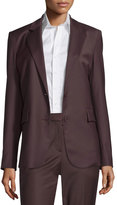 Theory Aaren Wool-Blend Jacket, Garnet