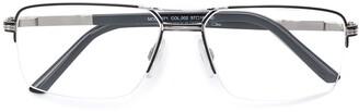 Cazal Rectangular Half Frame Glasses