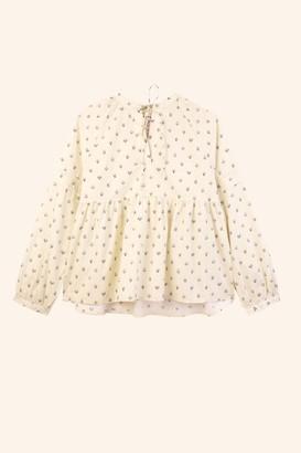 Meadows Abelia Winter Daisy Shirt - sz 8 | cream | ditsy | cotton - Cream
