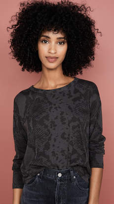 Rag & Bone Snake Print Cropped Long Sleeve