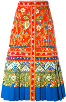 Tory Burch printed A-line skirt - women - Cotton/Spandex/Elastane - 8