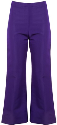 Christian Siriano Flared Cropped Trousers