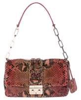Christian Dior Python New Lock Shoulder Bag