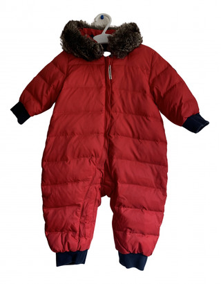 Petit Bateau Red Synthetic Jackets & Coats