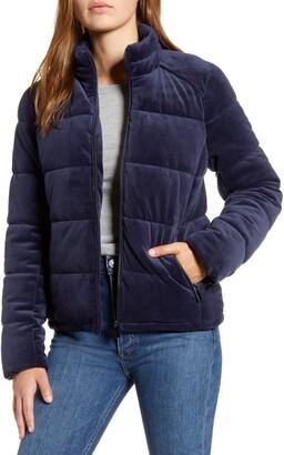 Andrew Marc Velvet Puffer Jacket