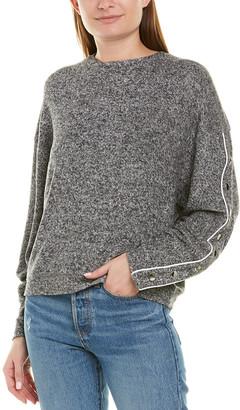 The Kooples Sweet Fleece & Snaps Sweatshirt