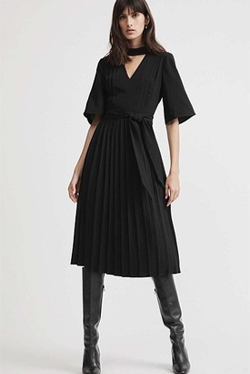Witchery V-Neck Pleat Dress