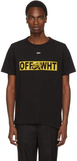 Off-White Black Moto Spliced T-Shirt