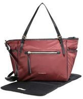 Burberry Leather-Trim Diaper Bag