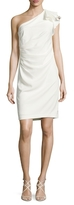 Carmen Marc Valvo One Shoulder Gathered Sheath Dress