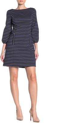 Eliza J Long Sleeve Cut-Out Shift Dress