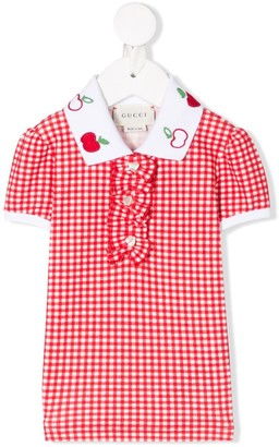 Gucci Kids Apple Embroidery Polo Shirt