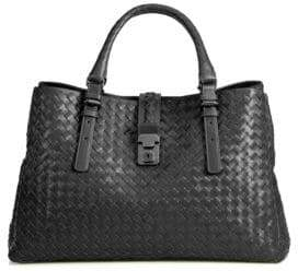 Bottega Veneta Roma Medium Intrecciato Leather Satchel