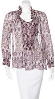 Etoile Isabel Marant Ikat Silk Top