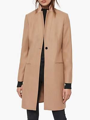AllSaints Leni Coat, Camel Brown