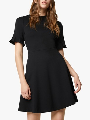 French Connection Padama Jersey Ruffle Mini Dress, Black