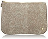 Stephanie Johnson Large Flat Cosmetic Pouch, Galapagos Brown