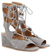 Chloé Foster Suede Gladiator Wedge Sandals