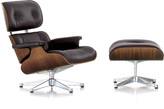 Vitra LCH Eames Lounge Chair & Ottoman - Walnut/Chocolate