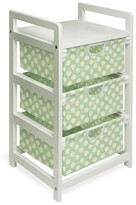 Badger Basket Green Dot Three Drawer Hamper and Storage Unit