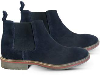 Curito Clothing Curito London Men's Suede Leather Chelsea Boots - Navy