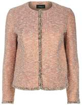 Les Copains Tweed Cropped Round Neck Jacket