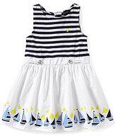 Nautica Little Girls 2T-6X Nautical Striped Sailboat Printed Dress