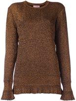 Lanvin frayed ruffle jumper - women - Polyamide/Polyester/Viscose - M