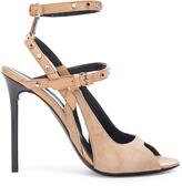 Balenciaga Leather & Suede Strappy Heels