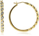 JCPenney FINE JEWELRY 1/10 CT. T.W. Diamond Hoop Earrings