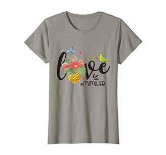 Womens Pineapple LOVE Mimi Life Tshirt Summer Grandma Womens Gifts