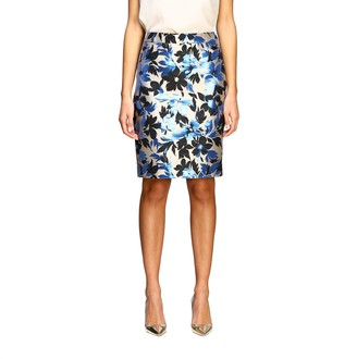 Boutique Moschino Suit Skirt In Floral Pattern Brocade