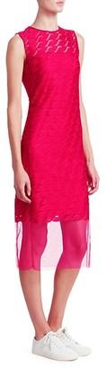 Akris Punto Sleeveless Embroidery Lip Sheath Dress