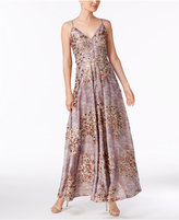 Calvin Klein Embroidered Lace Gown
